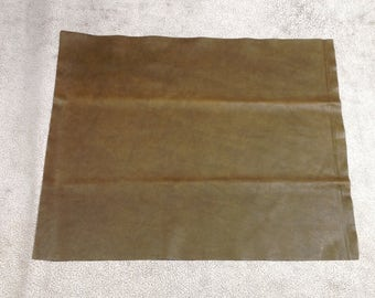ML938.  Olive Leather Cowhide Remnants