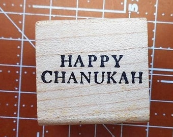 Happy Chanukah Rubber Stamp by Craftsmart