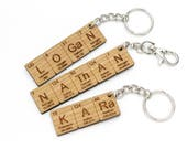 Custom Name Periodic Table Chemistry Keychain. Cool Science or Chemistry Gift - Made in the USA with Sustainably Harvested Woods!