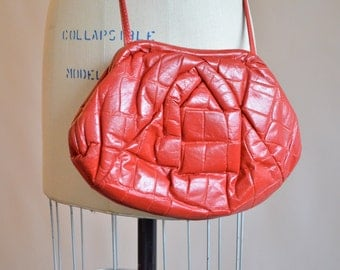 Vintage 1980s SOFT leather shoulder bag