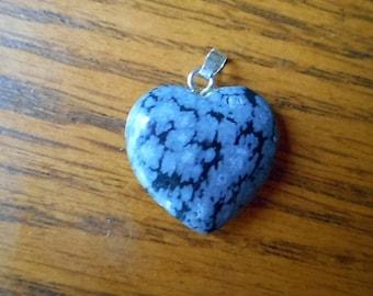 Gemstone pendant Hearts