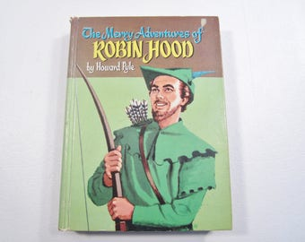 Vintage Book The Merry Adventures of Robin Hood Howard Pyle 1955