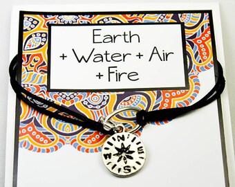 Compass Bracelet - Life is a Journey - Corded Friendship Bracelet - North - South - East -West - Friendship Bracelet INT014
