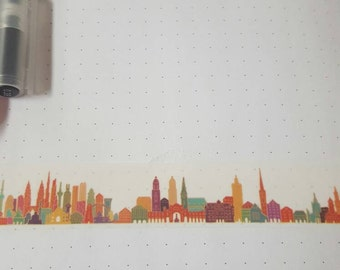 Wide Colorful City 30 in Washi Tape Sample