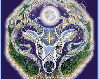 Winter Solstice Stag Banner