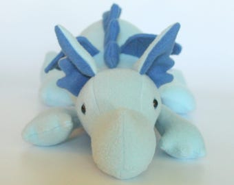 Blue Plush Baby Dragon