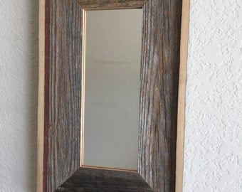Reclaimed Weathered Wood Mirror