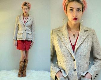Womens Tweed Blazer //  Wool Tweed Jacket  //  THE HACKING