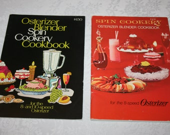 Two 2 Vintage Paper Booklets Osterizer Blender Pin Cookery Cookbooks