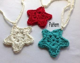 Instant Download Crochet Pattern, Crochet Star Garland Pattern, Crochet Star Pattern, Crochet Ornament Pattern