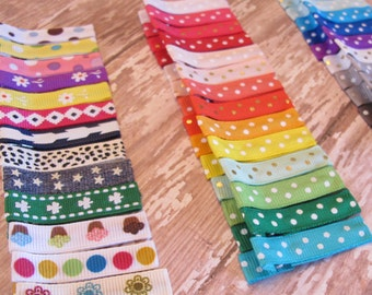 """25 Lined (45mm) 1.75"""" Alligator Clips - Fully or Partially - Starter Set, Babies Toddler Girl Women - non slip grip - made to order"""