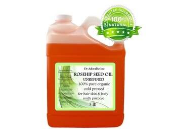 7 lb Rosehip Oil Unrefined 100% Pure & Organic Cold Pressed