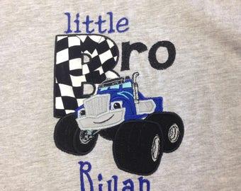 Monster Truck Shirt, Little Bro, Blaze