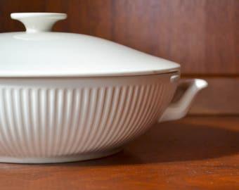 vintage white porcelain royal copenhagen serving dish / vegetable dish / danish modern minimalist