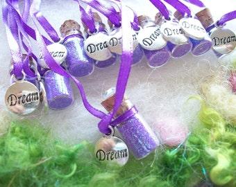 Dreamer Party Favors Dream Theme Sparkle Necklace, 10 Party Favors, Peter Pan Make a Wish Fairy Magic Rainbow Party