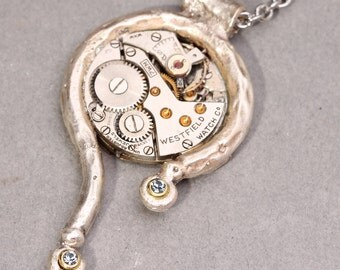 Steampunk Necklace Steampunk Pendant Steampunk Jewelry