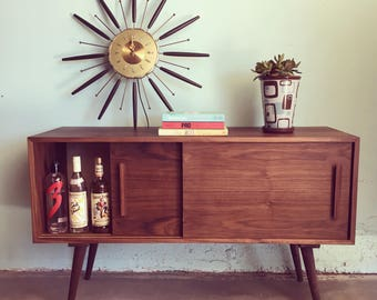 MID CENTURY MODERN Custom Made Media Stand (Los Angeles)