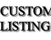Custom listing for Paulyna Pham