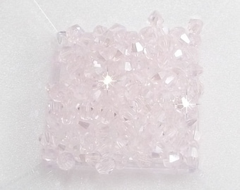 4mm Pink AB Chinese Crystal  Bicone Beads (50)