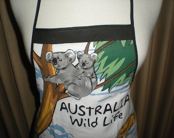 Australian Animal wildlife souvenir apron Great overseas gift for family and friends Cotton fabric