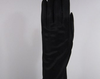 6-1/2 - 7 - Vintage Womens Black Dress/Church/Prom Gloves - 10 inches long(1002g)