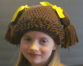 Crochet Cabbage Patch Hat ~ Size Small ~