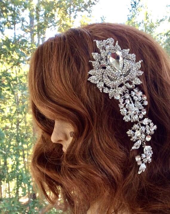 Rhinestone Hair Comb , Crystal  Bridal Clip, Wedding Bridesmaids Accessory