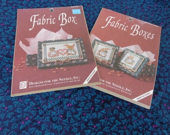 Two Fabric Box Cross Stitch Kits from Designs for the Needle Inc
