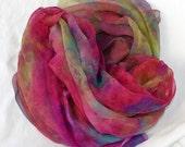 Silk Fabric , Silk Gauze Fabric , Hand dyed Silk Fabric, Ready to ship, 84 x 42 inches, Made in Australia by SallyAnnesSilks G39