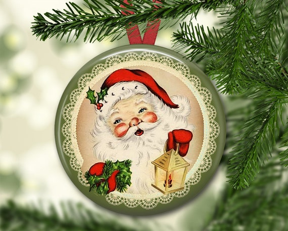 Items Similar To 3 5 Vintage Santa Claus Ornaments For