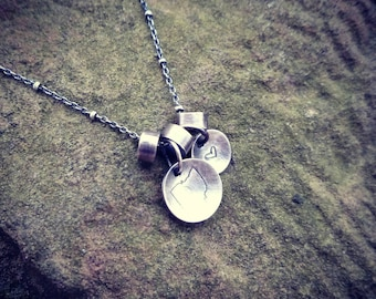 "Ohio ""the heart of it all"" Necklace.  Show off your Midwest pride."