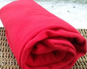 Bamboo Stretch Jersey Fabric Red