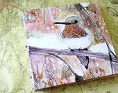 Handbound Art Journal Watercolour Sketchbook - Hummingbird