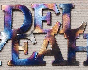 Del Yeah! / Del McCoury Metal Art