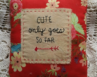 Prim Stitchery Cute Pillow ~OFG