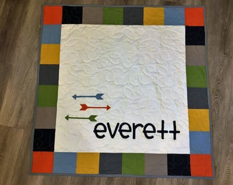 Custom Personalized Baby Name Quilt
