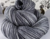 Handspun Yarn Gently Thick and Thin DK Single Blue faced Leicester 'Luna Granite' Miss Babs