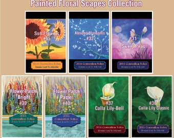 """Notebook for Convention of  2017 """"Don't Give Up!"""" NEW Circuit Assembly too! - Painted Floral Scapes"""
