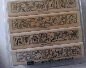 Nature's Seasonal Borders Rubber Stamp Set by Stamper's Up