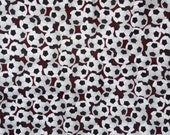 Soccer ball football on maroon background Lounge pants pajama dorm lounge flannel made to order your choice size XS - 2X