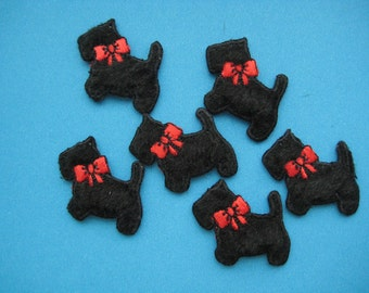 6 pcs Iron-on Applique PUPPY 1.25 inch