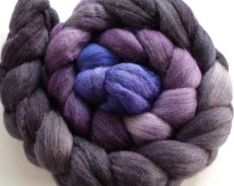 "Our Special Blend Hand Dyed BFL/Silk 4 Oz ""Those Were the Days Fibonacci Gradient"""