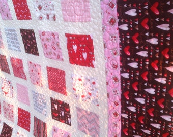 Simply SENDING MY LOVE 54x60 Valentine quilt