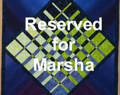 Reserved for Marsha Evening Fall Modern Quilted Wallhanging and Purple Passion quilted runner