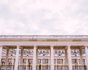 A Cloudy Day at the Palais Royal in Paris - Architectural Fine Art Photograph Print