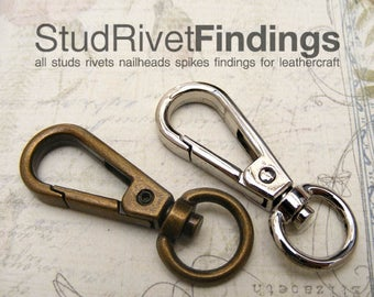 4pcs 1/2inch, 13mm (inside) Push Gate Snap Hook Lobster Swivel Clasps For Bag, Purse, tote