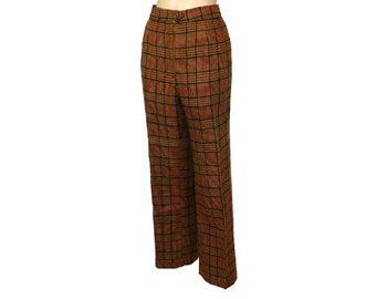 L/14 Vintage 1960's Her Tweed Trousers, Women's Wool Pants, Vintage Slacks, Large