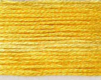 Cosmo, 6 Strand Cotton Floss, SE80-8027, Seasons Variegated Embroidery Thread, Yellows, Wool Applique, Cross Stitch, Embroidery