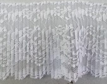 Crystal Pleated White Lace trim for altered couture, bridal, decor 24 yards WHOLESALE