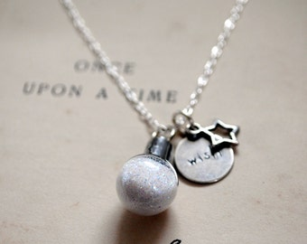 Sparkle Dust Necklace Wish on a Star Sterling Silver Necklace Fairy Magic